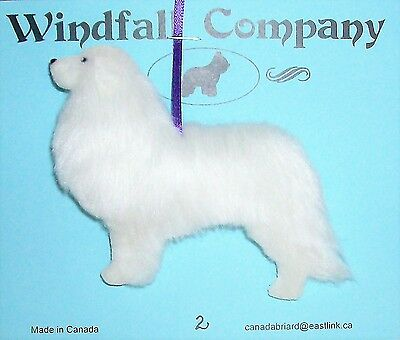 All White Great Pyrenees Pyr Dog Soft Plush Christmas Canine Ornament # 2 by WC