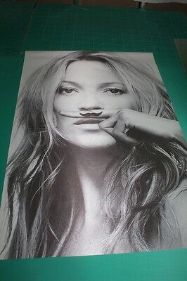 New Hot Super Sexy Model KATE MOSS Life Is A Joke Silk Fabric Poster 24X36""
