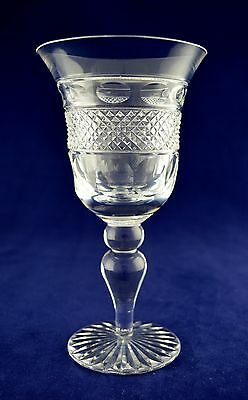 """Cumbria Crystal """"GRASMERE"""" Wine or Water Glass - 17.6cms (7"""") tall"""