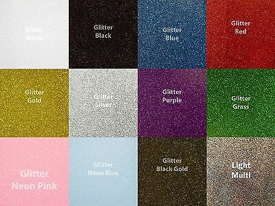 Siser Glitter Heat Transfer Vinyl for T-Shirts 12 Color Starter Set 10 x 12 ""