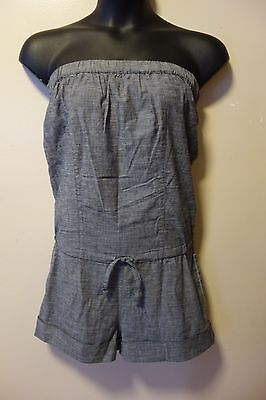 f99cfd80adf BEBE COTTON BLEND STRAPLESS Romper Size Xs