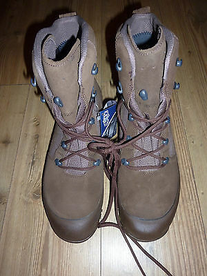 Haix Desert Combat High Liability Brown Suede Boots Size 8M British Army Issue