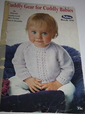 Patons knitting pattern book no.890 Cuddly Gear for Cuddly Babies