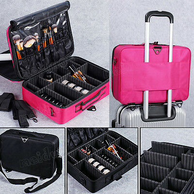 Professional Make-Up Cases Dresser Train Cosmetics Case Organizer Jewelry Box