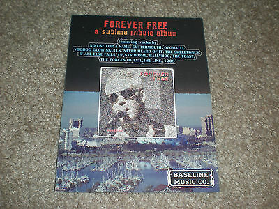 Rare Sublime Forever Free Tribute Album Flyer Postcard Guttermouth Pepper NUFAN