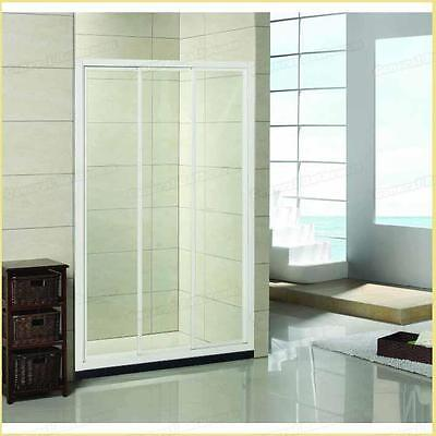Safety Glass Framed Adjustable WALL TO WALL Shower Screen 3 Panels Sliding Door