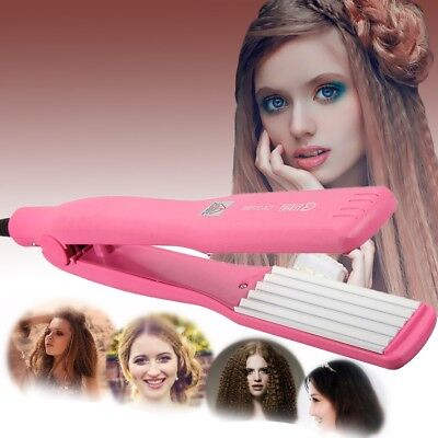 Hair Curler Curls Iron Crimper Roller Curling Anion Wave Wet/Dry Roll Wand Gift