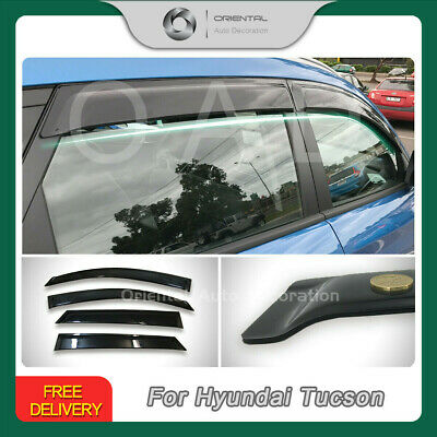 Luxury Premium Weather Shields Weathershield Window Visor Tucson 2015-2019 4pcs
