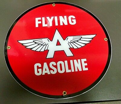 FLYING A Oil Gas Porcelain Advertising sign
