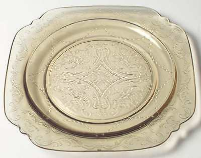 Federal Glass Company MADRID AMBER Luncheon Plate 124448