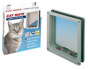 Large Cat Mate Cat Flap, Small Dog, Pet Door - White