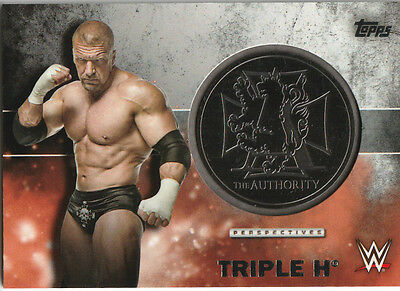 2016 Topps WWE TRIPLE H AUTHENTIC METAL MEDALLION /299