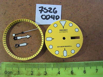 Yellow DIAL & Hands SET for SEIKO  DIVER 7S26-0040 Automatic New