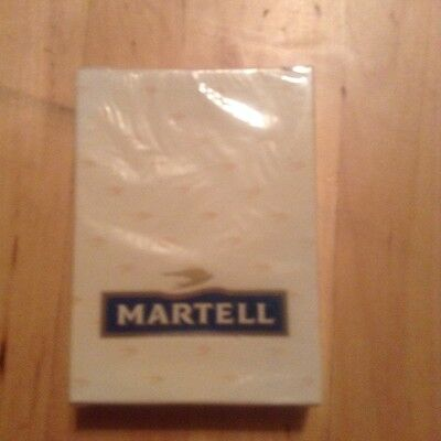 NEW MARTELL COGNAC PLAYING CARDS Vintage off white, sealed