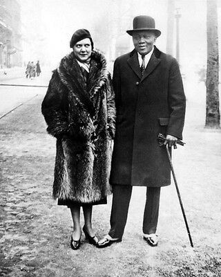 1933 Heavyweight Boxer JOHN 'JACK' JOHNSON & Wife Glossy 8x10 Photo Print Poster