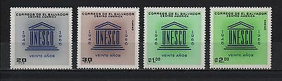El Salvador 1966 Unesco 20 Years Creation Cultural Patrimo Sc# 770-771 C233-C234