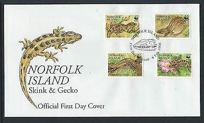 1996 NORFOLK ISLAND WWF - Endangered Species First Day Cover