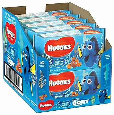 10 x Huggies Disney Special Edition Baby Wipes With Aloevera 56 Wipes Per Pack