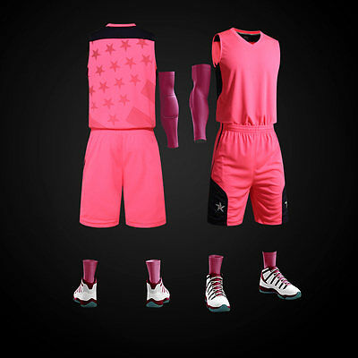 NEW! Women Breathable Basketball Clothes Basketball Uniform School Team Sport