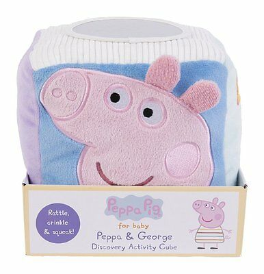 Peppa Pig for Baby Activity Cube By Rainbow Designs Soft Plush Kids Children