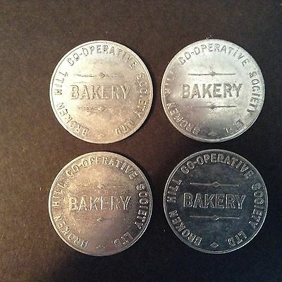 Bread Token. Broken Hill Bakery. For one loaf. (One only).