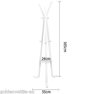 Wooden Coat Rack Clothes Stand Hanger White Black Light Wood 55CM*165CM AU STOCK