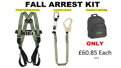 Kratos Full Body Safety Harness Kit/ Fall Arrest Kit C/w Bag And Lanyard