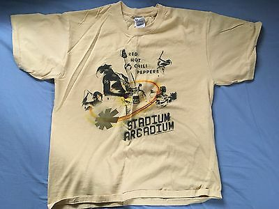 RED HOT CHILI PEPPERS Stadium Arcadium Official T-Shirt (Brownish Yellow, L)