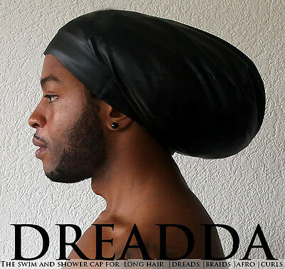 Dread Swim Cap Hat XL Extra Large Black Dreadlocks Rasta Weaves Extensions