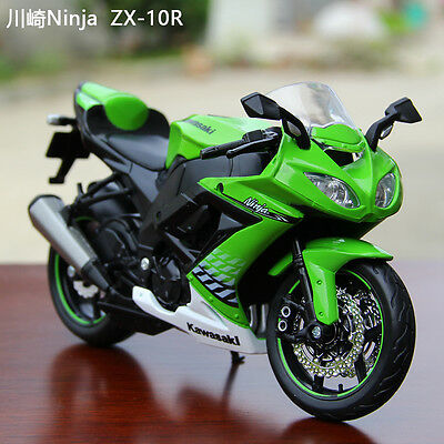 Collection 1:12 Motorcycle Superbike Diecast For Kawasaki Ninja ZX-10R Model Toy