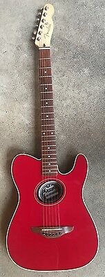 Fender Telecoustic Acoustic / Electric Guitar Red