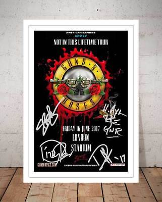 Guns N Roses Not In This Lifetime 2017 Concert Flyer Autographed Photo Print - 2