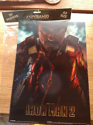 Iron Man 2 Large (A3) 3D Lenticular Poster IN Pack
