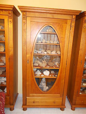 Belle Armoire Vitrine Avec Rayonnages En Pin Massif.rangement Collections.