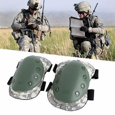 Adjustable Combat Tactical Military Airsoft Sport Protector Elbow Knee Pad Kits