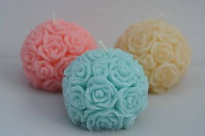 Joblot of 10 Rose ball scented candles