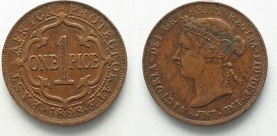 EAST AFRICA PROTECTORATE 1 Pice 1898 VICTORIA bronze VF-XF # 95847