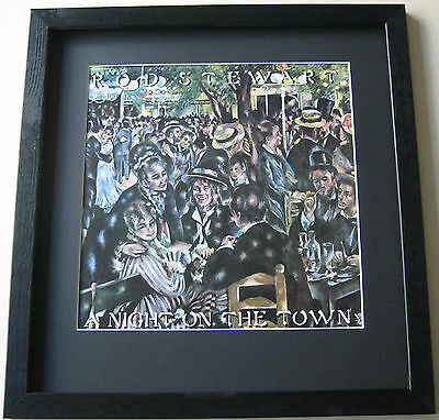 ROD STEWART A Night On The Town FRAMED ALBUM COVER