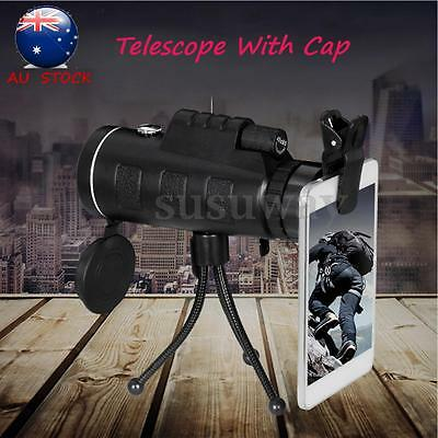 40X60 Travel Portable HD Dual Focus Optical Prism Monocular Telescope + Tripod