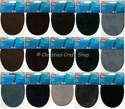 Prym Faux Suede Repair Patches Iron-on & Sew For Elbow and Knee's