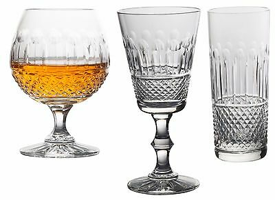 Swartons Emmerald 24% Lead Crystal Set of 6 Wine Glass Brandy Champagne Flutes