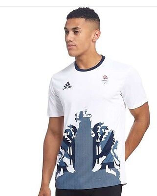 MEDIUM Rio 2016 Olympic Adidas Team GB Men's Tennis Shirt BNWT