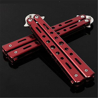 Red Stunning Outdoor Practice Training Stainless Steel Butterfly Cool Knife Comb