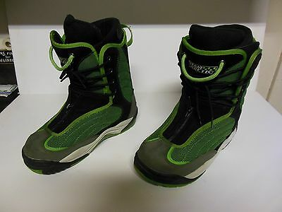Team Arctic Cat Green Size 11 Racing Snocross Snowmobile Boots Good Used!!!