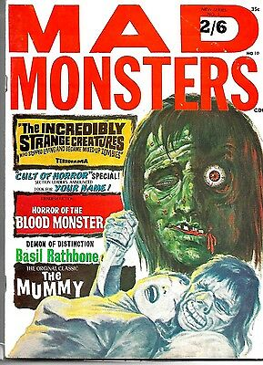 Mad Monsters Magazine #10 Uk Issue Vfn Condition
