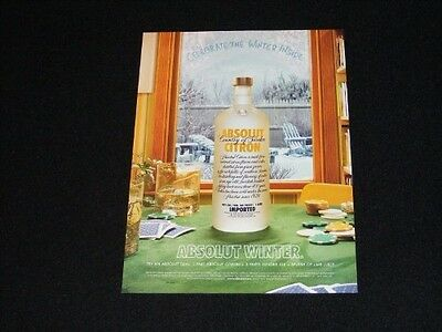 ABSOLUT Vodka magazine clipping 2005 ad Absolut Winter