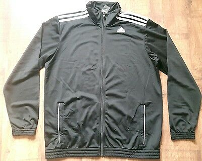 adidas 3 Stripe Entry Polyester Tracksuit Top Mens Size XXL