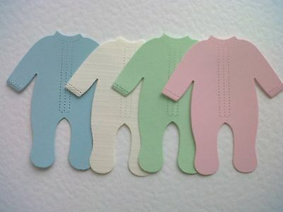 20 Gorgeous Babygrows, Die Cuts For Baby Cards /toppers