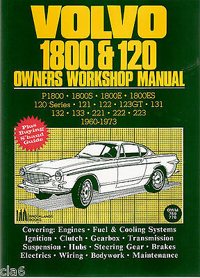 Volvo P1800 1800S 1800ES and 120 Amazon Owners Workshop Manual 1960-1973  *NEW