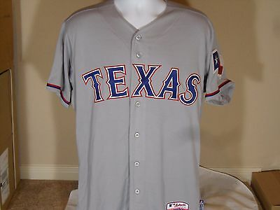 the best attitude d8c7f dea0b NEW MAJESTIC COOL Base Authentic Texas Rangers Road Away Baseball Jersey  Gray
